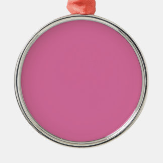 China Pink Fashionable Matching Color Round Metal Christmas Ornament
