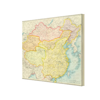 China political map canvas print