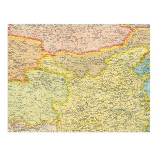 China political map postcard