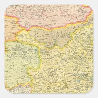 China political map square sticker