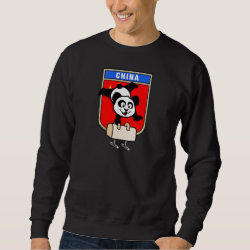 Men's Basic Sweatshirt with Chinese Pommel Horse Panda design