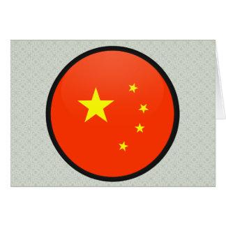 China quality Flag Circle Greeting Cards