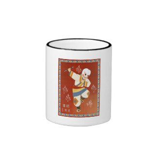 China Railway Japanese Dance Vintage Travel Ringer Coffee Mug