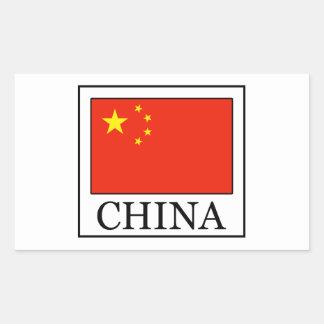 China Rectangular Sticker