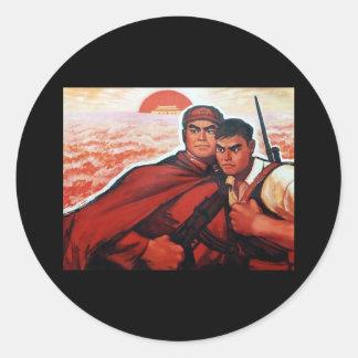 China Red Army Classic Round Sticker