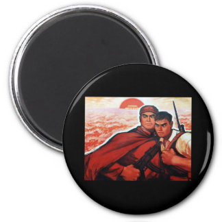 China Red Army 2 Inch Round Magnet