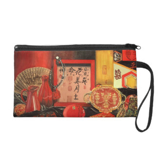 China Red Year of the Rabbit Wristlet