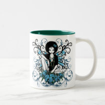 myka, jelina, china, retro, afro, exotic, lilly, lillies, faeries, fairies, fae, gothic, faerie, holiday gifts, vector mugs, art, Mug with custom graphic design