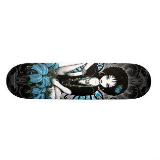 """""""China"""" Retro Lilly Yin Yang Fairy Art Skateboard"""