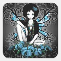 china, retro, teal, afro, ethnic, yin, yang, fantasy, fairy, faery, fae, faerie, pixies, art, myka, jelina, mika, big, eyed, flower, flora, faeries, nymphs, sprites, Sticker with custom graphic design