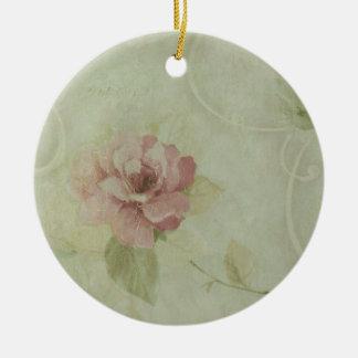 china rose ceramic ornament