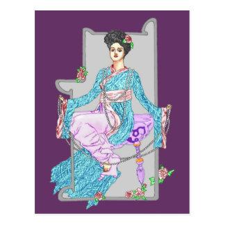 China Rose & Pearls Postcard