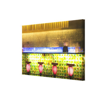 China, Shanghai. Bar in the Xin Tian Di bar 2 Canvas Print