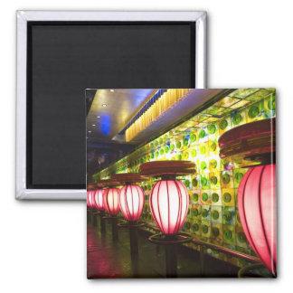 China, Shanghai. Bar in the Xin Tian Di bar 2 Inch Square Magnet