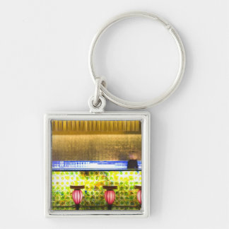 China, Shanghai. Bar in the Xin Tian Di bar 2 Silver-Colored Square Keychain