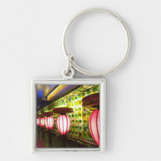 China, Shanghai. Bar in the Xin Tian Di bar Silver-Colored Square Keychain