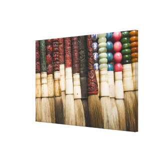 China, Shanghai. Brushes Chenghuang Miao Stretched Canvas Prints