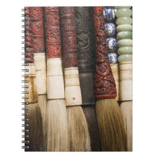China, Shanghai. Brushes Chenghuang Miao Notebook