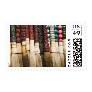China, Shanghai. Brushes Chenghuang Miao Postage