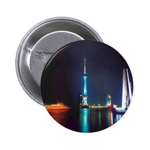China Shanghai Oriental Pearl Tower 2 Inch Round Button