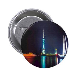 China Shanghai Oriental Pearl Tower Pinback Button