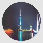 China Shanghai Oriental Pearl Tower Round Sticker