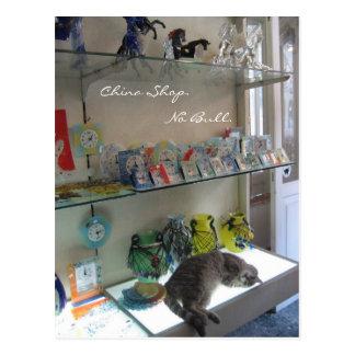 China Shop. No Bull. Postcard