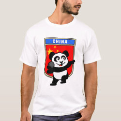 Men's Basic T-Shirt with Chinese Shot Put Panda design