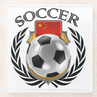 China Soccer 2016 Fan Gear Glass Coaster