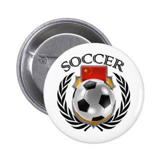 China Soccer 2016 Fan Gear Pinback Button