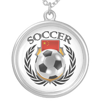 China Soccer 2016 Fan Gear Silver Plated Necklace