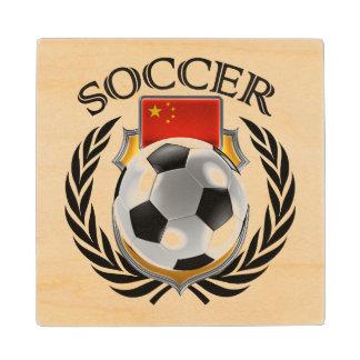 China Soccer 2016 Fan Gear Wooden Coaster