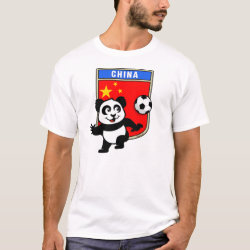 Men's Basic T-Shirt with China Football Panda design