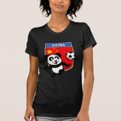 Women's American Apparel Fine Jersey Short Sleeve T-Shirt with China Football Panda design