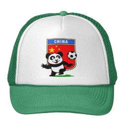 Trucker Hat with China Football Panda design