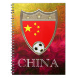 China Soccer Spiral Note Book