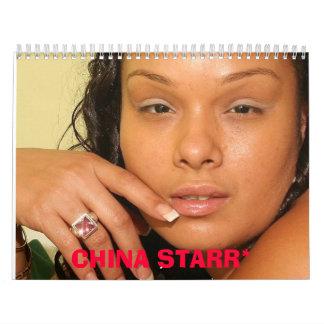 CHINA STARR 2009 CALANDERS CALENDAR