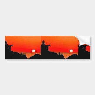 china sunset car bumper sticker