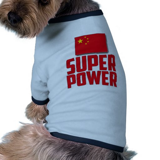 China - superpoder camiseta con mangas para perro
