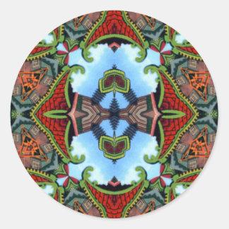 China Symbol of Tokens Kaleidoscope Classic Round Sticker