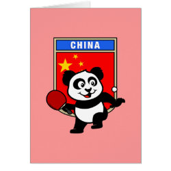 Greeting Card with Chinese Table Tennis Panda design