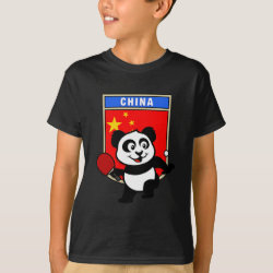 Kids' Hanes TAGLESS® T-Shirt with Chinese Table Tennis Panda design
