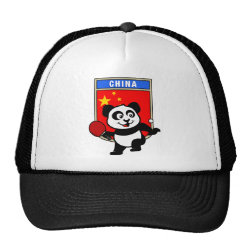 Trucker Hat with Chinese Table Tennis Panda design