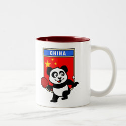 Two-Tone Mug with Chinese Table Tennis Panda design