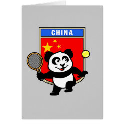Greeting Card with China Tennis Panda design