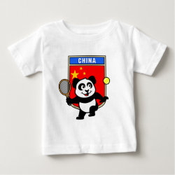 Baby Fine Jersey T-Shirt with China Tennis Panda design
