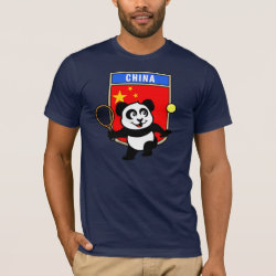 Men's Basic American Apparel T-Shirt with China Tennis Panda design