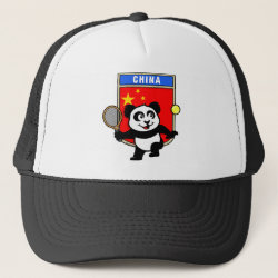 Trucker Hat with China Tennis Panda design