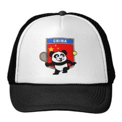 Trucker Hat with China Tennis Panda design