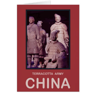 China Terracotta Army Greeting Card